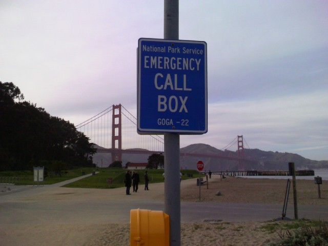 National Park Service Emergency Call Box GOGA-22