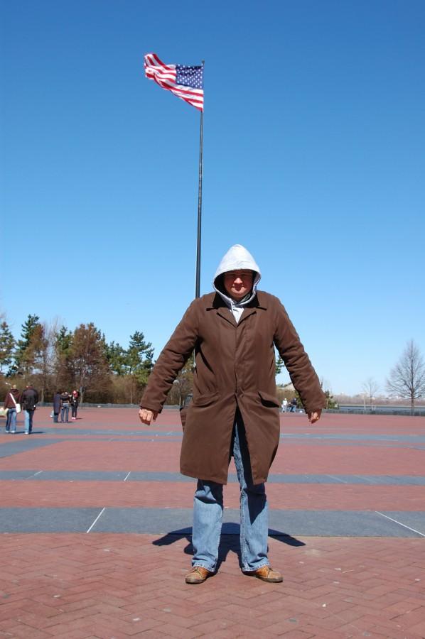 На Liberty Island вчера было очень холодно