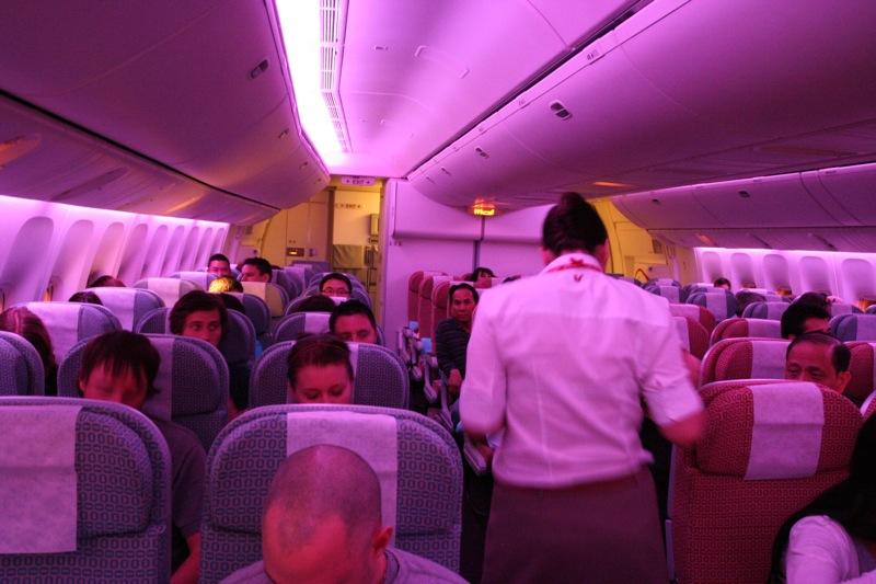 Салон самолёта компании V Australia