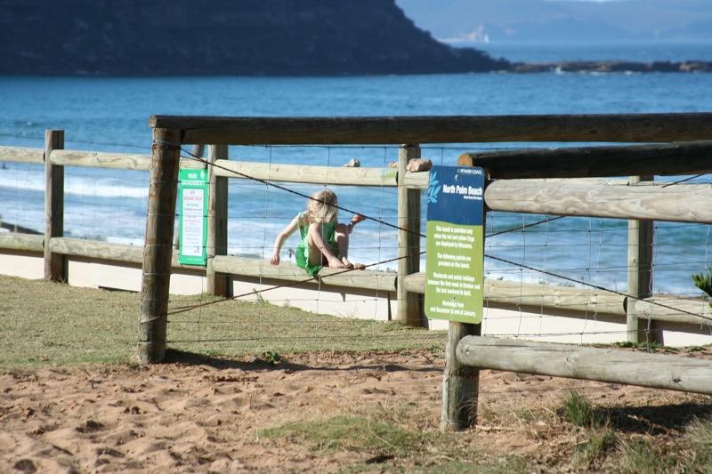 Лето на пляже в Сиднее, Австралия. Тасманово море