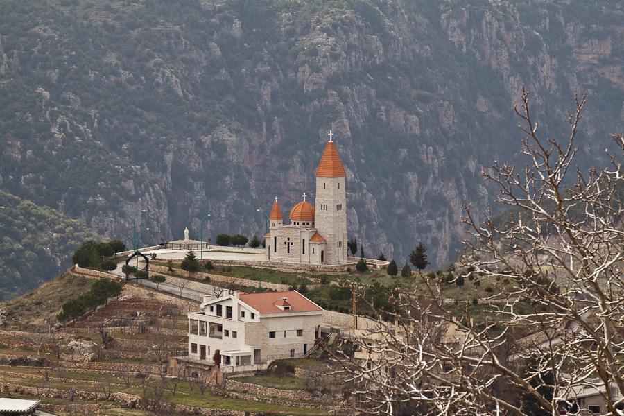 Церковь, горный Ливан. A christian church in mountain region of Lebanon
