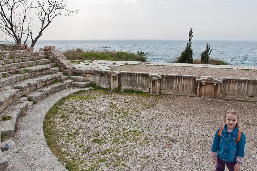 Roman theater in Byblos, Lebanon. Романский амфитеатр, Библ (Библос), Ливан