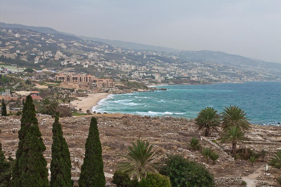 Lebanon coast, a view from Byblos. Побережье Ливана, вид из Библоса