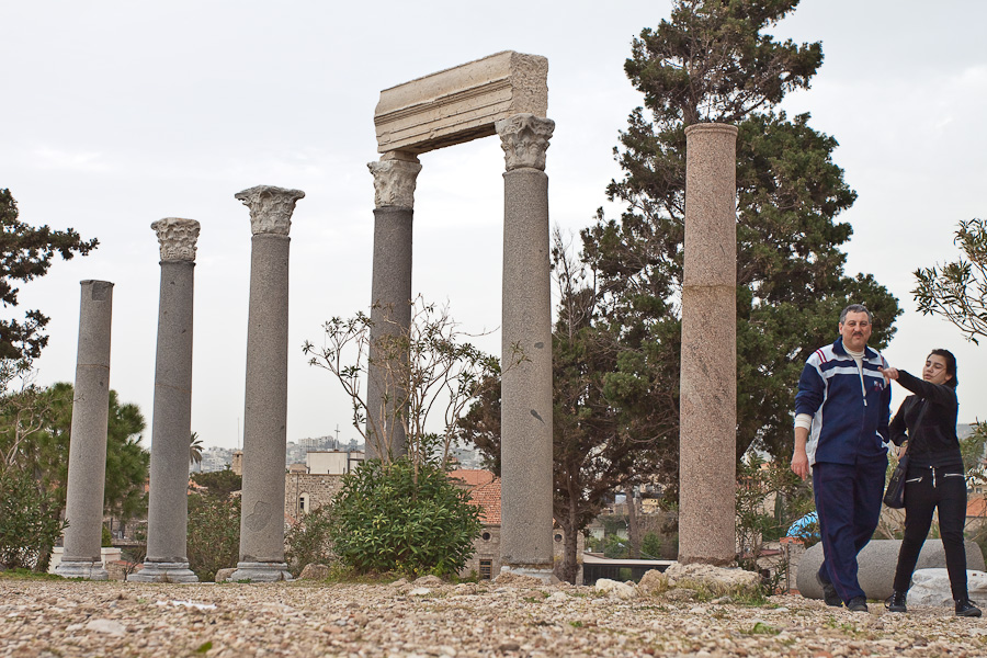 Antic ruins in Byblos, Lebanon. Античные руины, Библ (Библос), Ливан