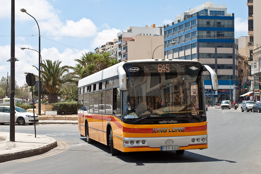 Maltese bus 645 King Long FBY-800. Мальтийский автобус.