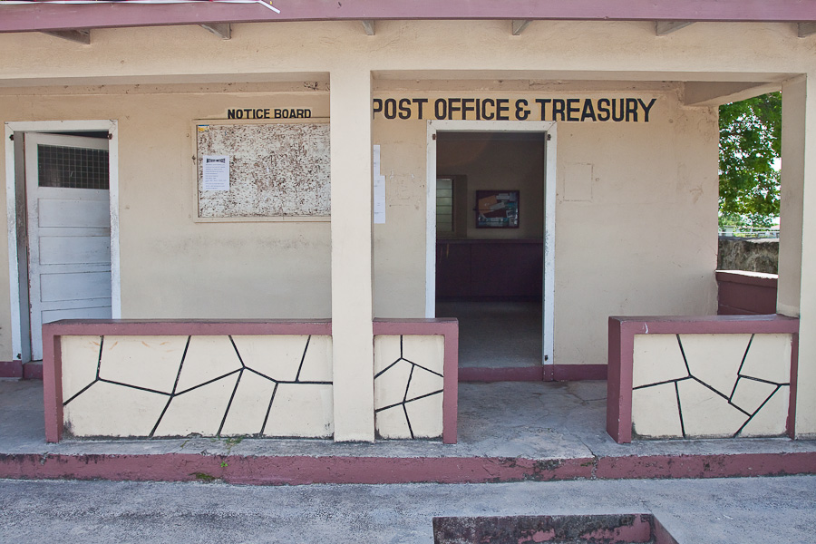 Post Office & Treasury, Codrington town, Island of Barbuda, Antigua and Barbuda, Caribbean. Почта и казначейство, город Кодрингтон, остров Барбуда, Антигуа и Барбуда.
