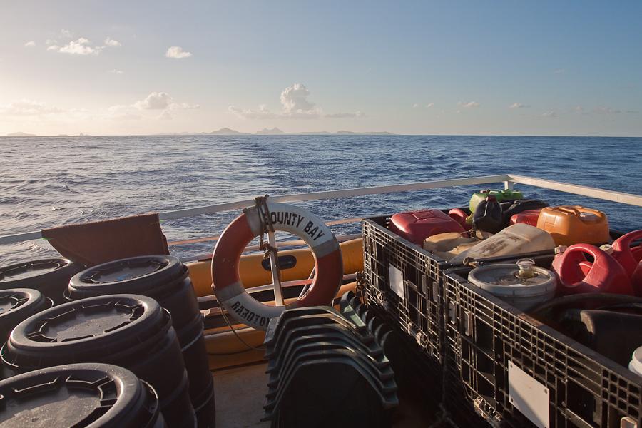 SRV Discovery (RV Bounty Bay) покидает архипелаг Гамбье
