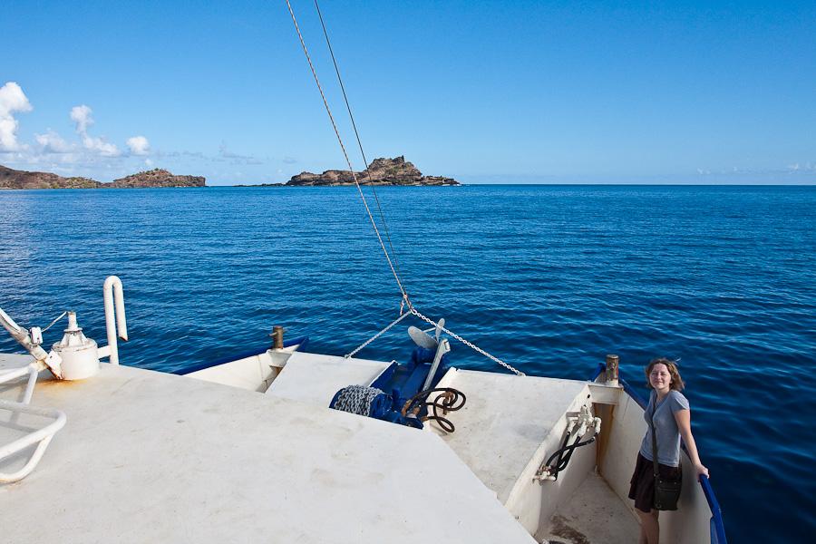 SRV Discovery покидает архипелаг Гамбье