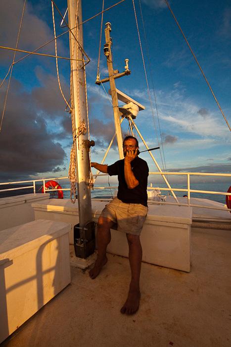 Craig Markowski, Iridium, в Тихом океане между Гамбье и Питкэрном