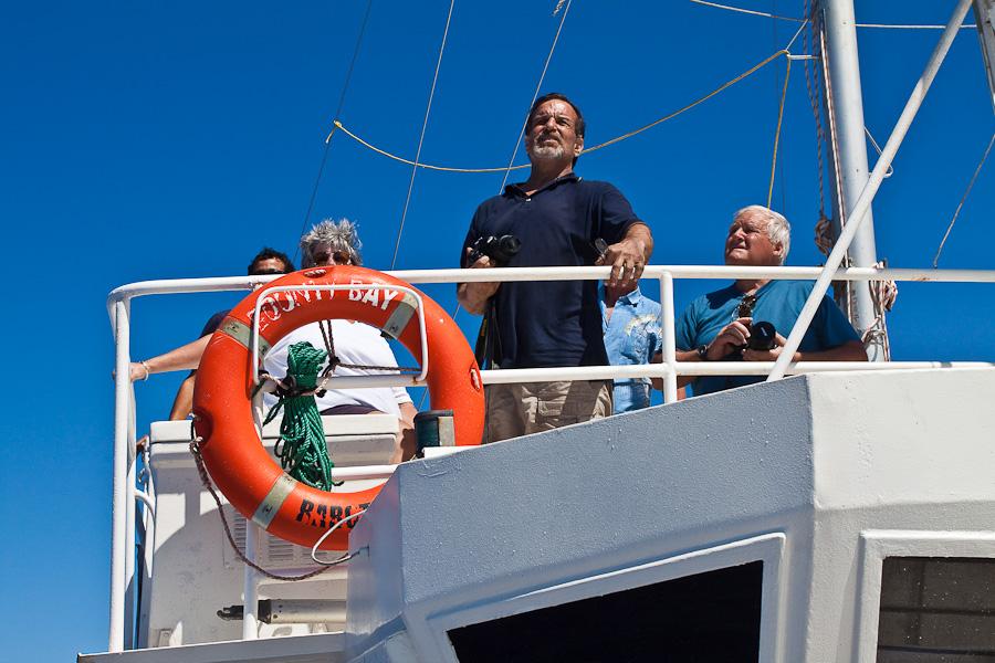 Прибытие на Питкэрн. Captain Craig Markowski на мостике SRV Discovery (RV Bounty Bay)