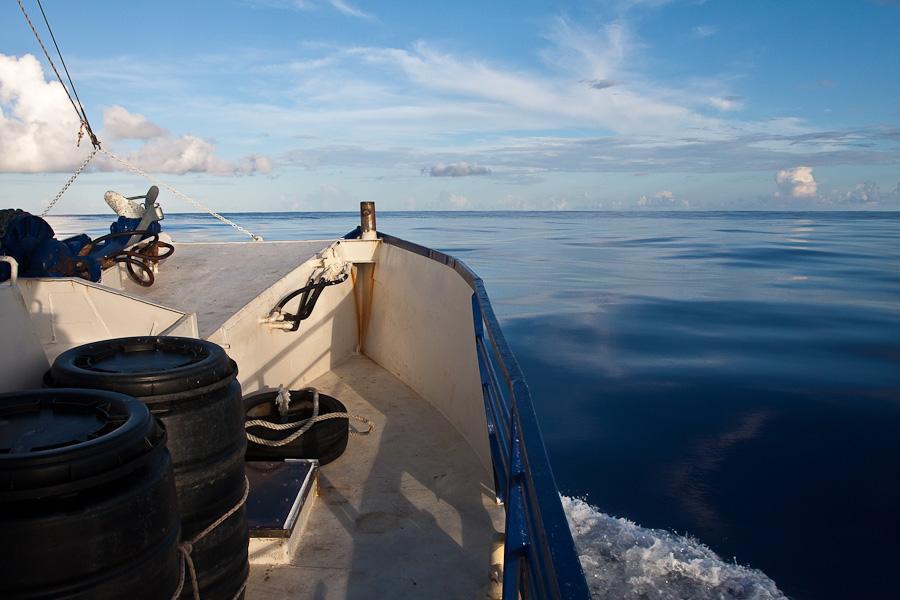 По дороге на Питкэрн. Тихий океан без волн, SRV Discovery