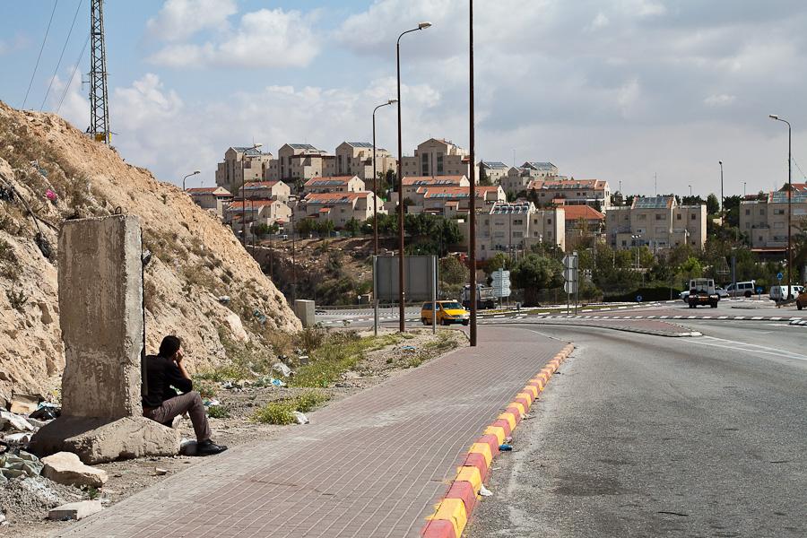Неявная граница между Палестиной и Израилем
