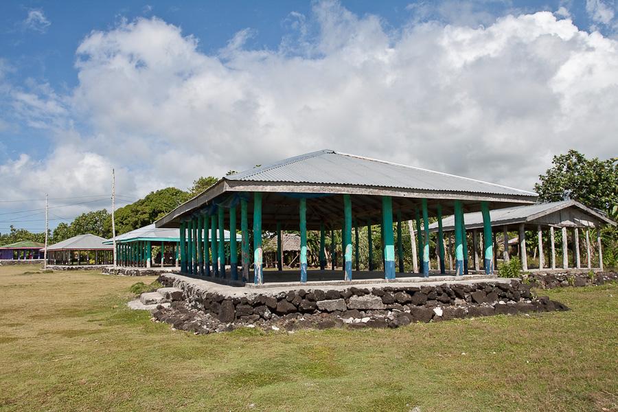 Здания училища Amoa College на острове Savaii, Самоа