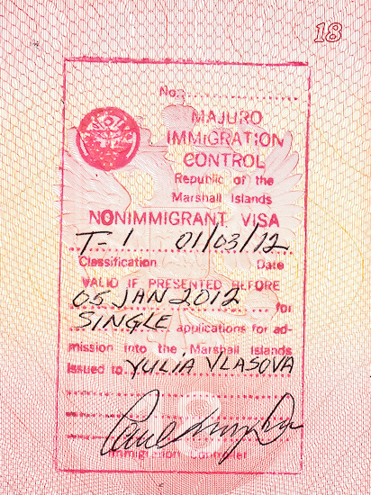 Виза на Маршалловы острова. Marshall Islands Visa