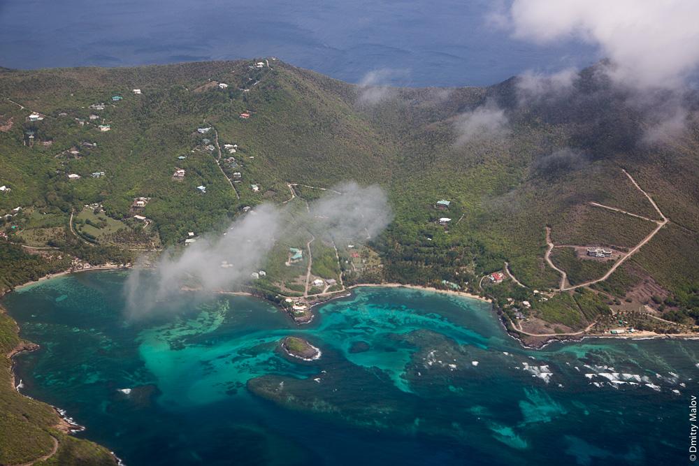 Остров Bequia, острова Гренадины, Сент-Винсент. Аэро-фото