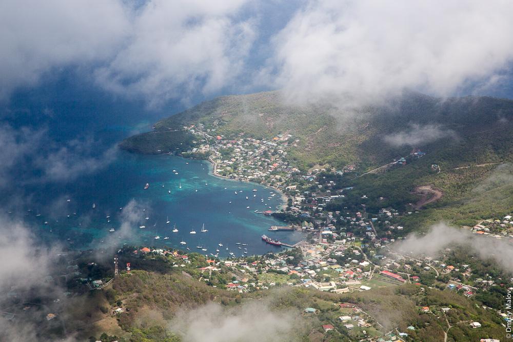 Город Претория, Остров Bequia, острова Гренадины, Сент-Винсент. Аэро-фото