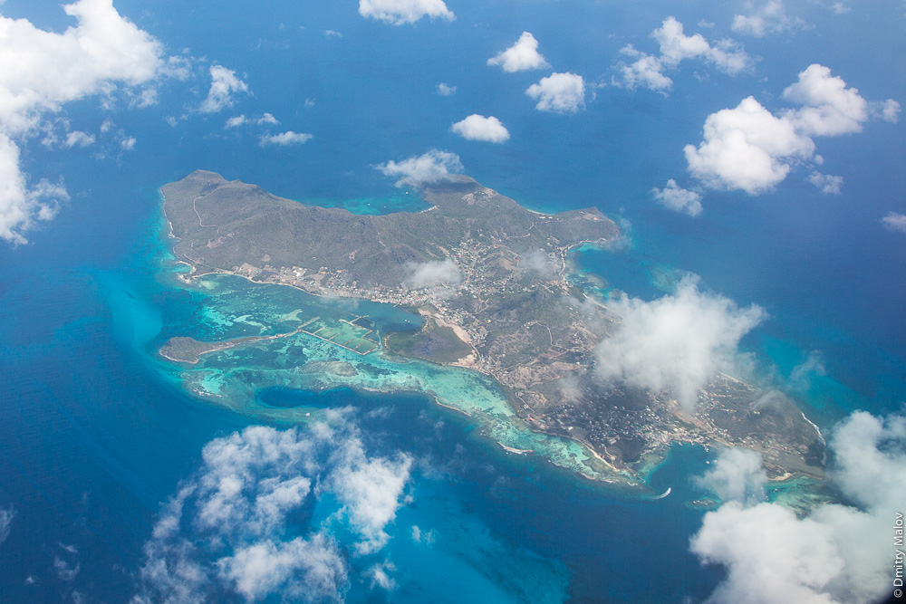 Union Island, острова Гренадины, Сент-Винсент. Аэро-фото