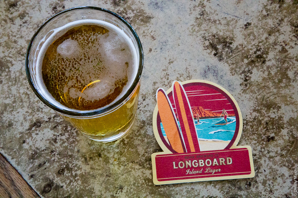 Longboard Island Lager, Kona Brewing Co., Hawaii. Гавайское пиво Лонгбоард.