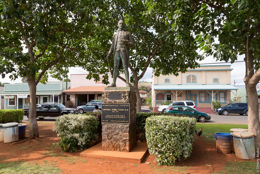James Cook Memorial, Hawaii, Kauai island, Waimea. Памятник капитану Куку, Гавайи, остров Кауаи, Ваимеа