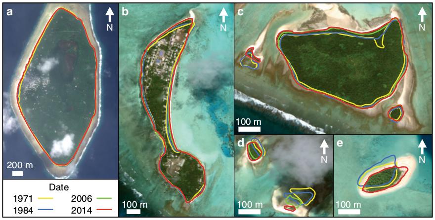 Рост площади остров Тувалу
