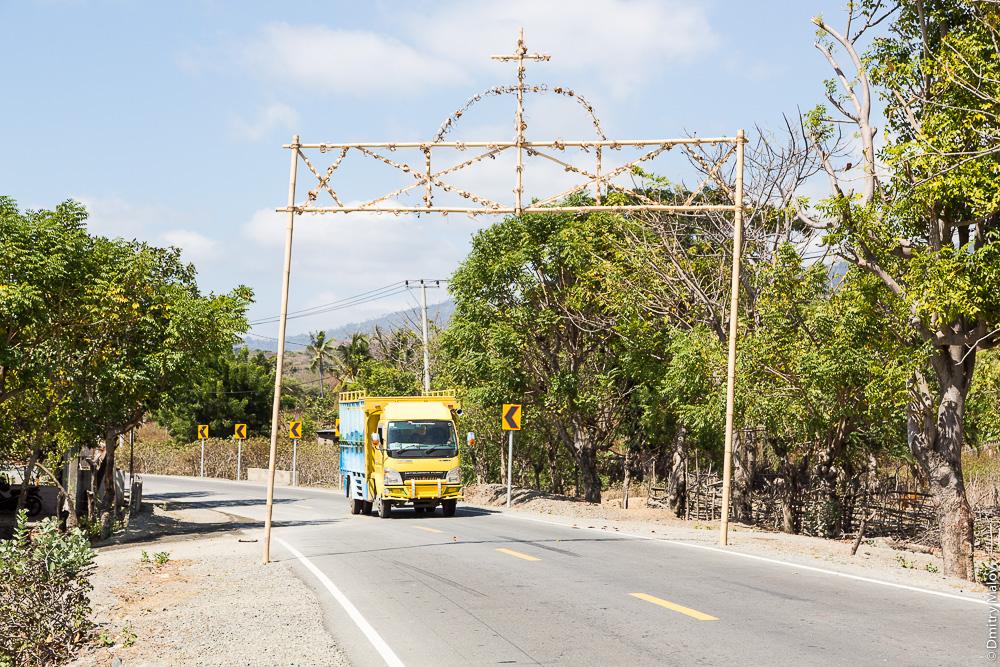 Временная триумфальная арка в честь приезда высокого гостя, Восточный Тимор