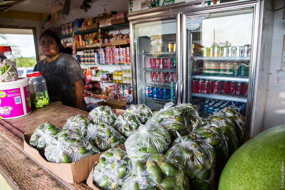 Продажа листа бетеля и орехов ареки, остров Яп, Микронезия