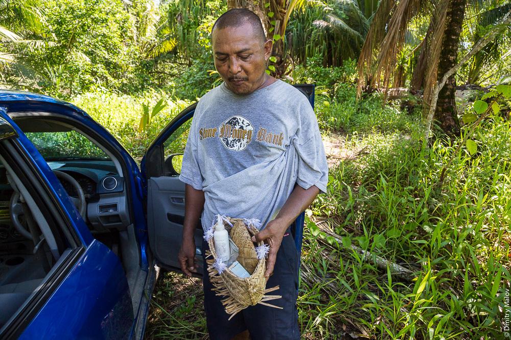 Потребитель бетеля, остров Яп, Микронезия