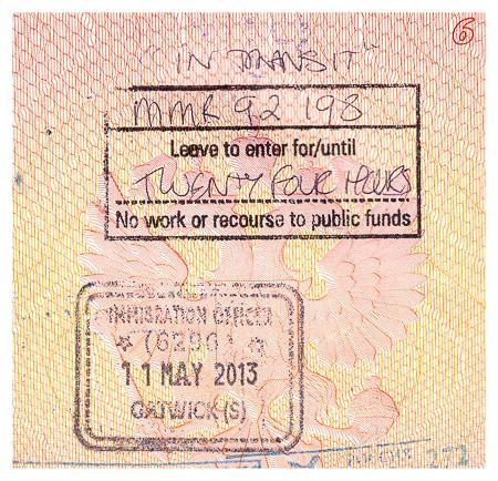 Печати Великобритании в паспорте - безвизовый въезд. British border stamp and a visa waiver