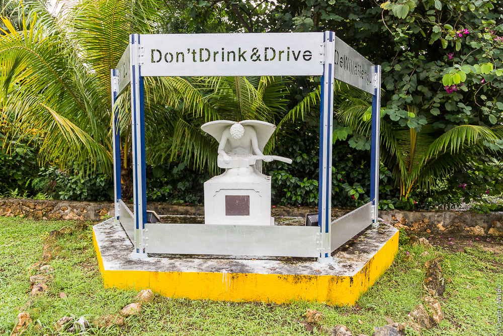 Don't drink and drive monument, Koror, Palau
