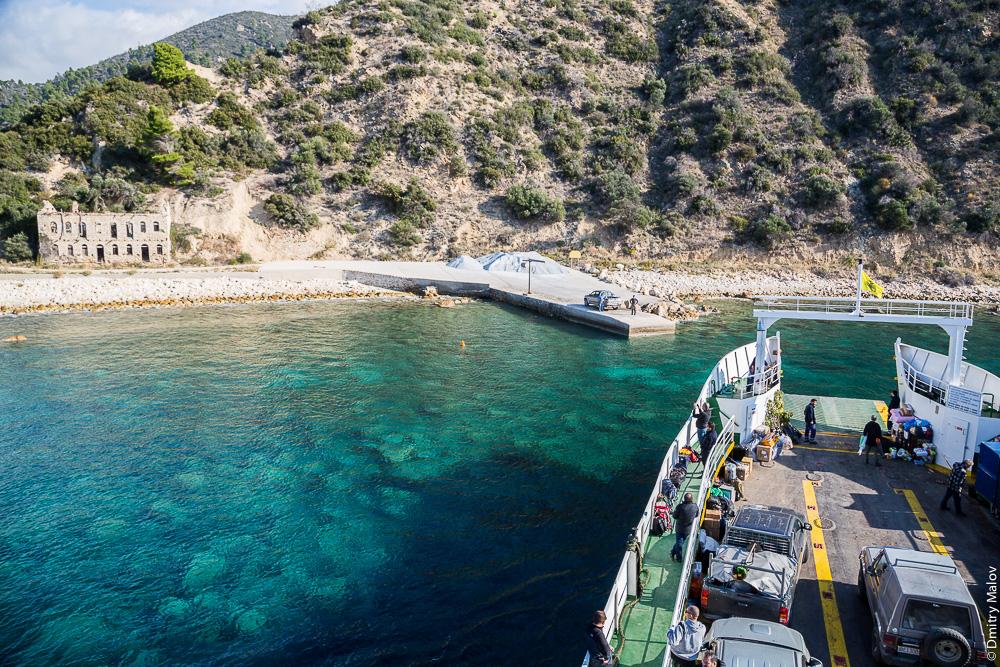 Пристань на Святой Горе Афон