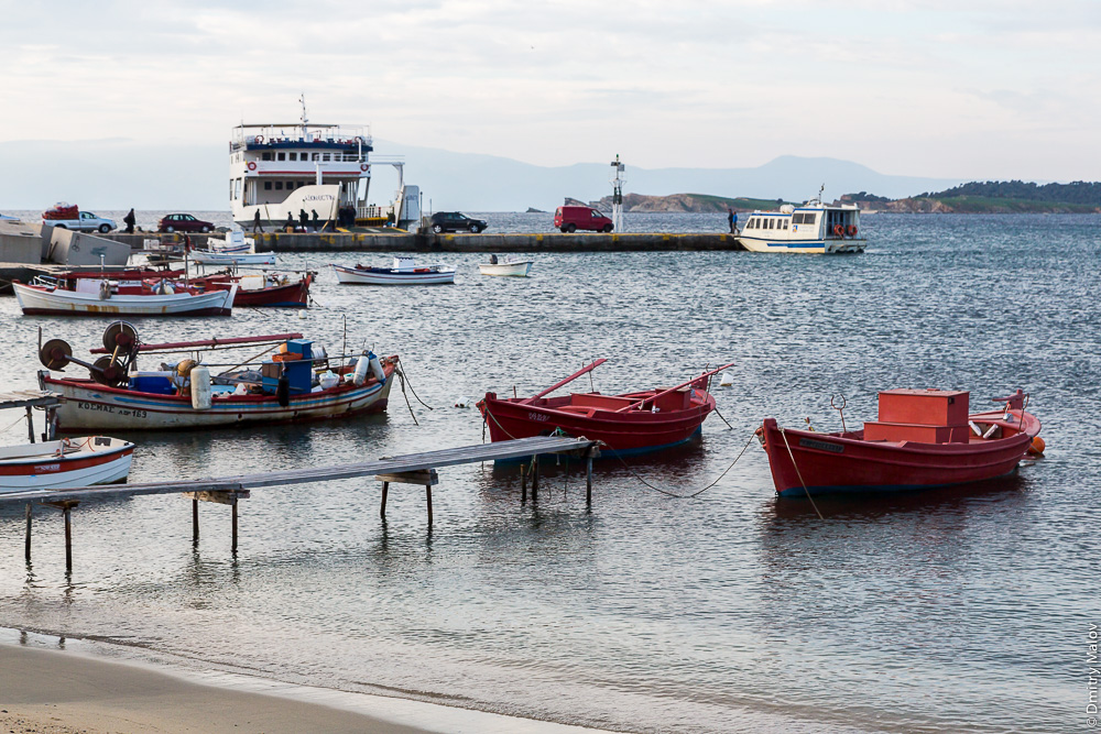 Порт Уранополис, Греция. Port of Ouranoupoli, Halkidiki, Greece