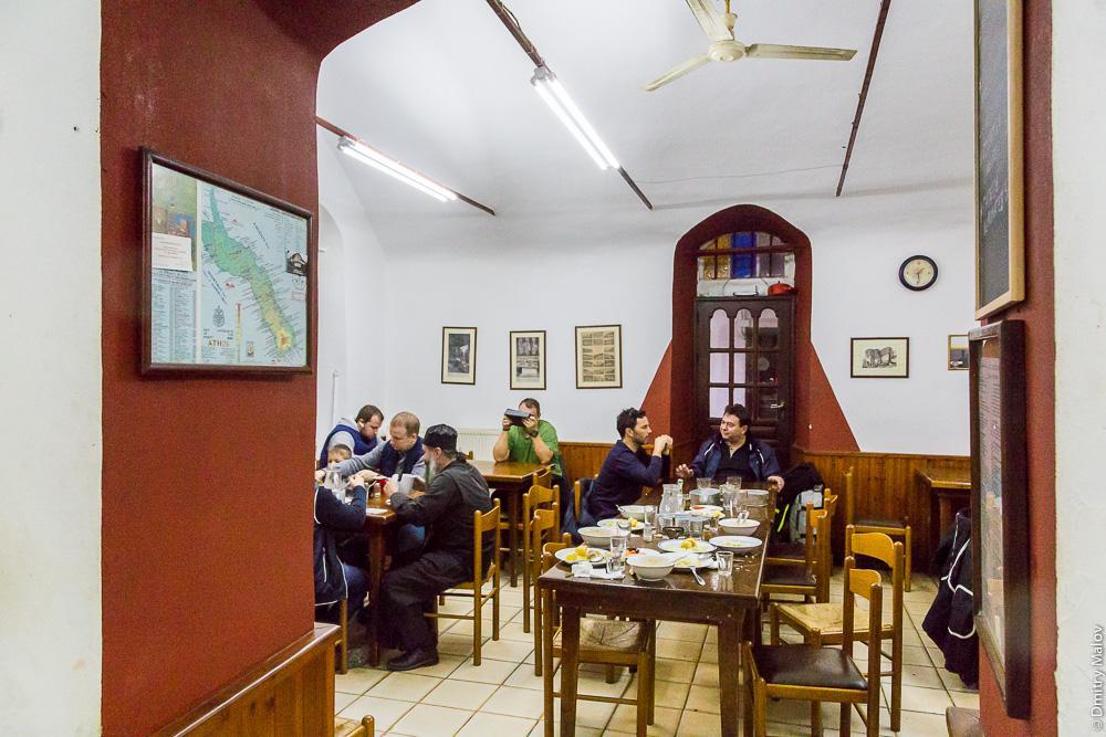 Кафе в городе Карея (Кариес), Святая Гора Афон