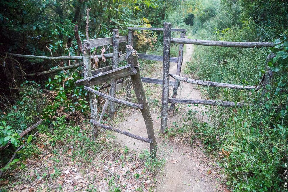 Ограждения от домашних животных на тропе, Святая Гора Афон