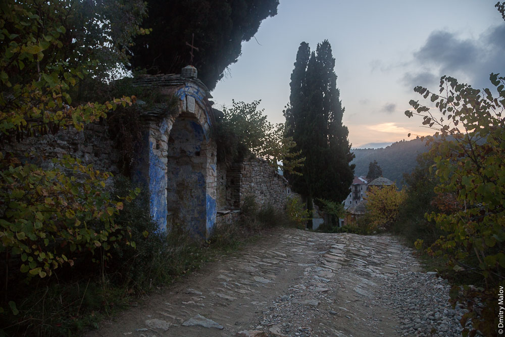 Окрестности монастыря Зограф, Святая Гора Афон