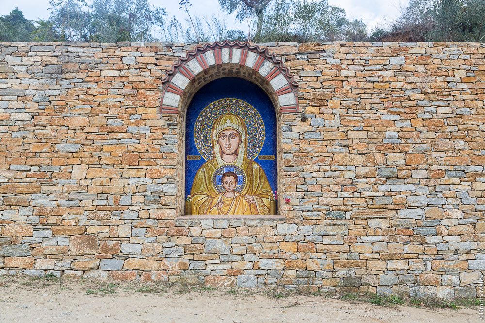 Икона на дороге, Святая Гора Афон
