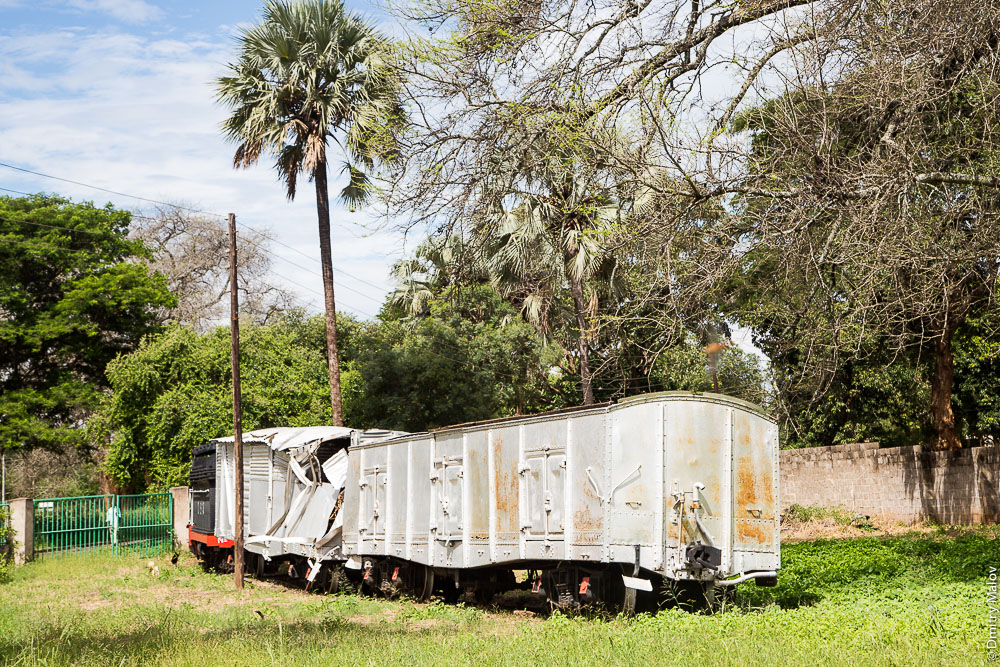 Rhodesia Railways freight railcar. Грузовой вагон железных дорог Родезии. Город Ливингстон, Замбия. Livingstone city, Zambia. Железнодорожный музей Замбии. Railway Museum