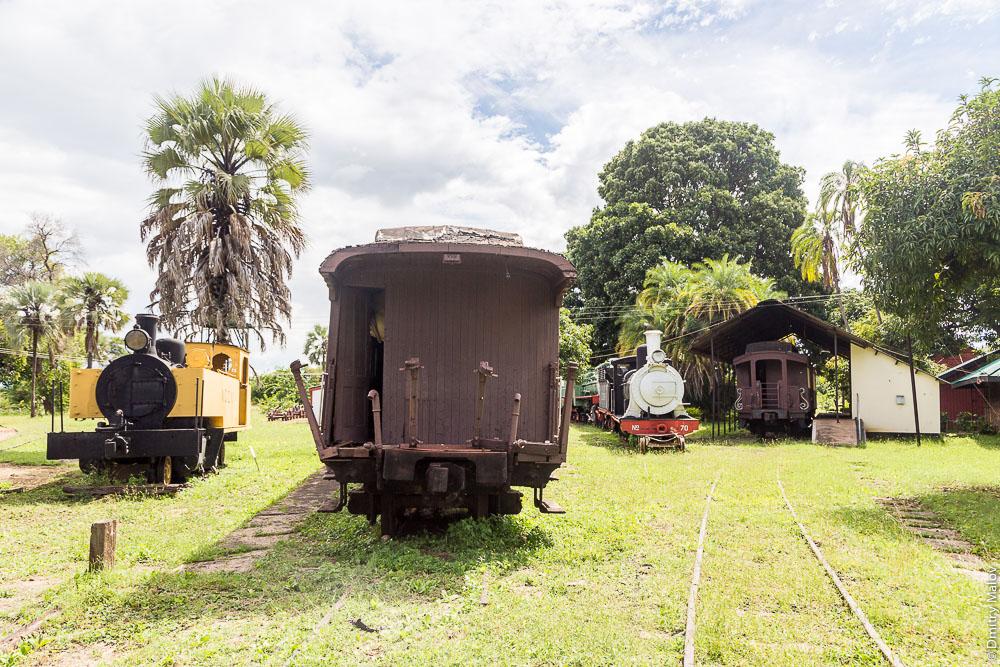 Город Ливингстон, Замбия. Livingstone city, Zambia. Железнодорожный музей Замбии. Railway Museum.
