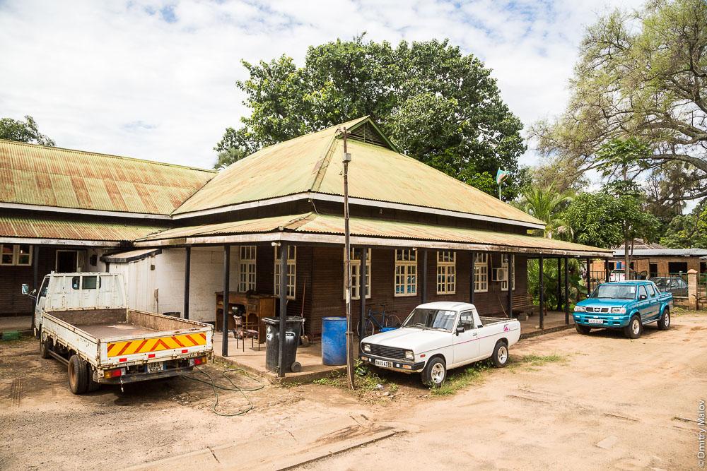 Город Ливингстон, Замбия. Колониальный особняк. Livingstone city, Zambia, colonial mansion