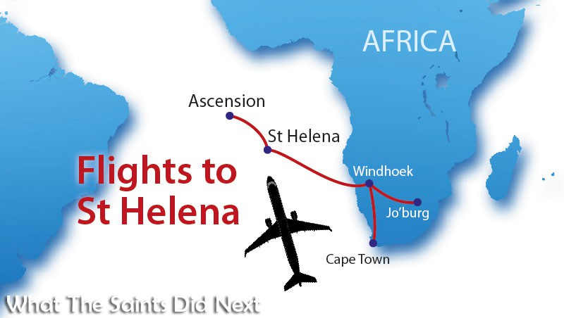 Flights to St Helena - SA Airlink and St Helena Government have announced the link to South Africa will be to both Cape Town and Johannesburg.