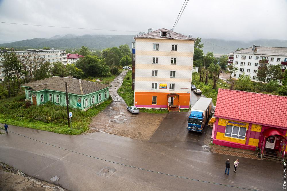 Город Александровск-Сахалинский, центр, улица Кондрашкина. City centre, Kondrashkina street, Alexandrovsk-Sakhalinsky, Sakhalin, Russia.