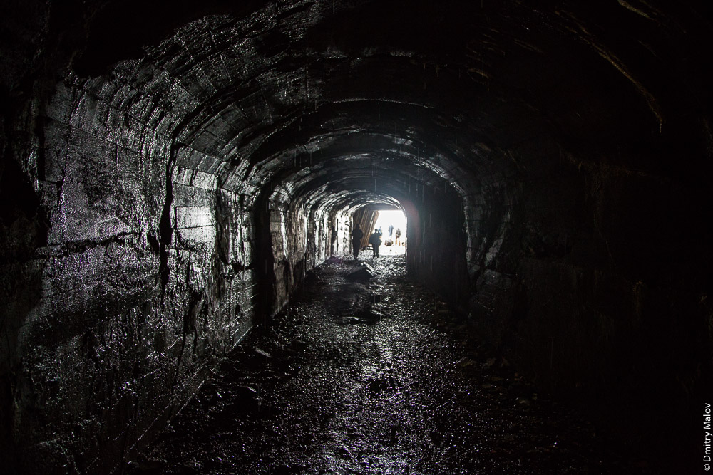 The tunnel of the Cape Jonquière, Alexandrovsk-Sakhalinsky, Sakhalin, Russia. Мыс Жонкиер и туннель, Александровск-Сахалинский.