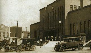 Южный вокзал (1927), японская Маока (город Холмск), Карафуто (Южный Сахалин). Southern railway station (Japanese town of Maoka, Karafuto, Southern Sakhalin), now town of Kholmsk, Russia