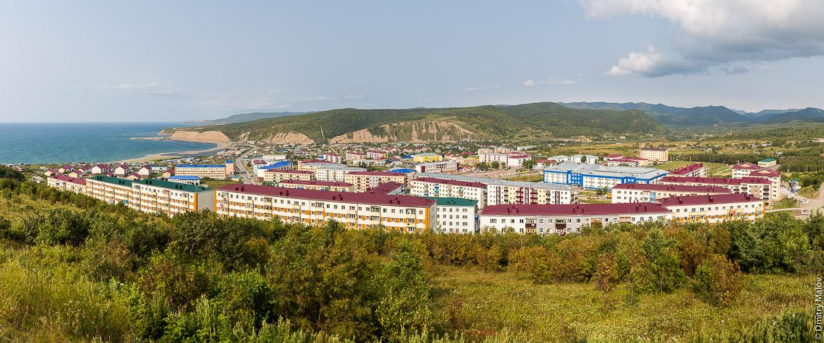 Панорама города Томари, Сахалин. Tomari town panorama, Sakhalin, Russia