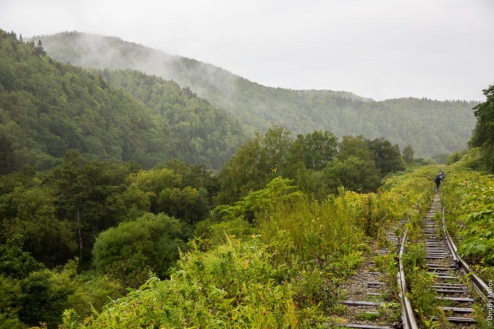 Заброшенная железнодорожная линия Холмск—Южно-Сахалинск, Сахалин. Abandoned railroad line of Kholmsk-Yuzhno-Sakhalinsk, Sakhalin, Russia.