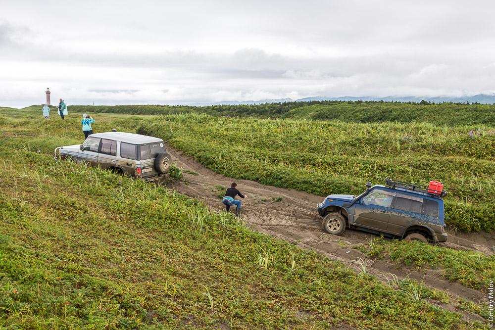 Застряли в дюнах на мысе Слепиковского, Сахалин. Stuck in the dunes at Cape Slepikovsky, Sakhalin, Russia