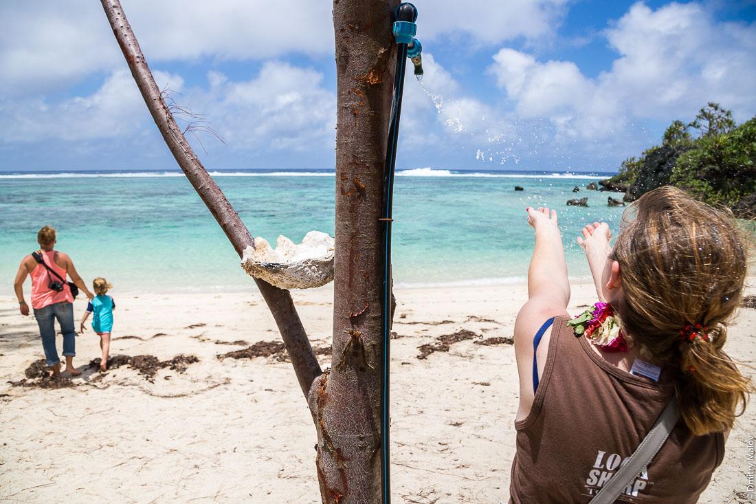 Toataratara Point. Тоатаратара. Остров Руруту, архипелаг Острал (Тубуаи), Французская Полинезия. Арофотосъёмка с дрона. Rurutu, the Austral islands (Tubuai), French Polynesia. An aerial drone photo.