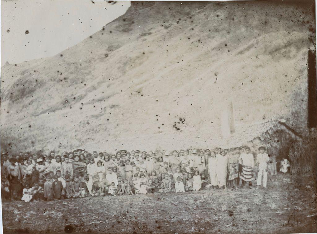 Население острова Рапа-Ити, фото, 1905 год. Rapa: avant la distribution, 1905.