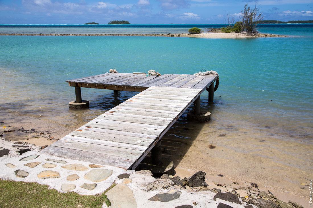 Пляж, остров Раиваваэ, архипелаг Острал (Тубуаи). Raivavae island, Astral (Tubuai) Islands, French Polynesia. A beach near Herava point.