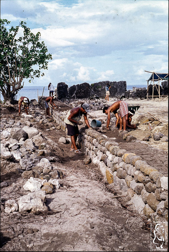 Restoration of the Hauviri marae © Fonds SCP
