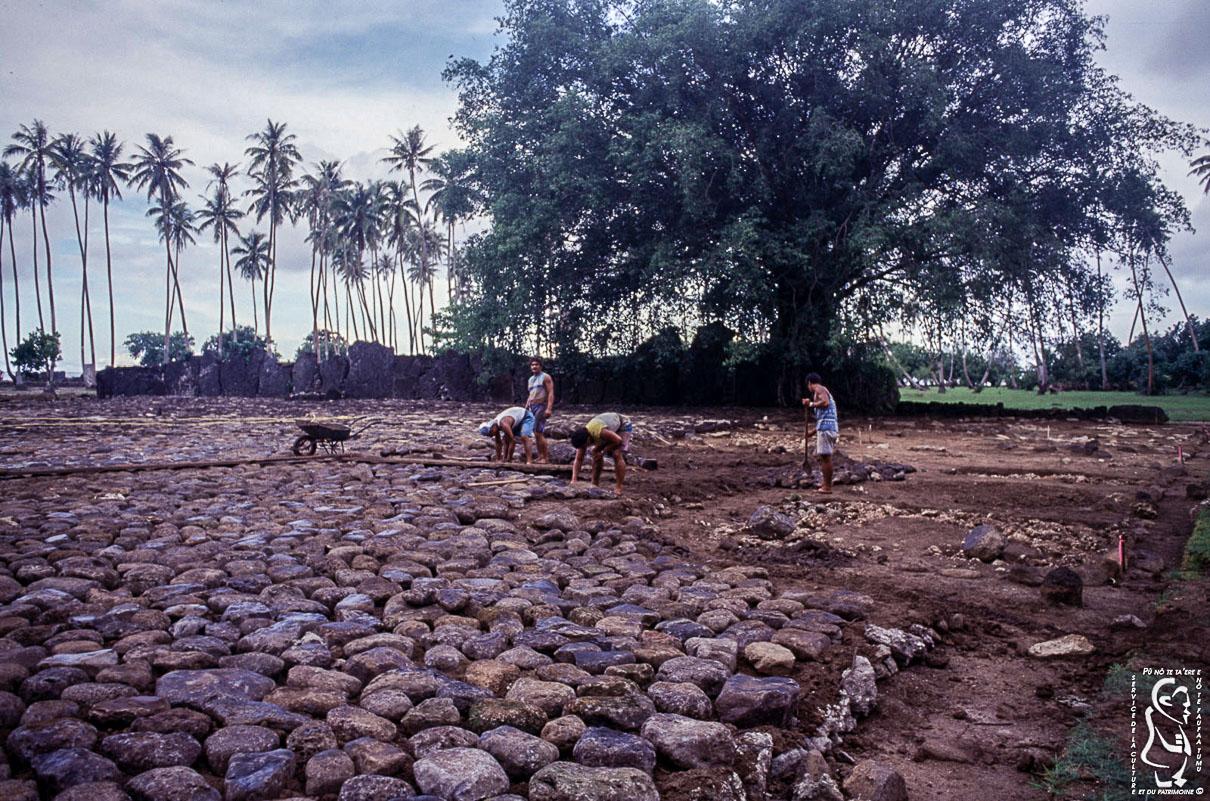 Restoration of the marae Taputapuatea © Fonds SCP